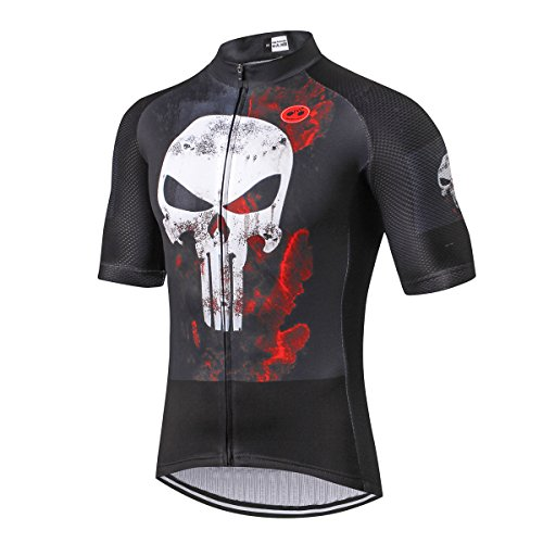 Radfahren Jersey Männer 2018 Radfahren Jersey Fahrradbekleidung Fahrrad top Männer Ropa Ciclismo Maillot MTB Trikot Racing Sport T-Shirts Schädel Schwarz Größe XXXL