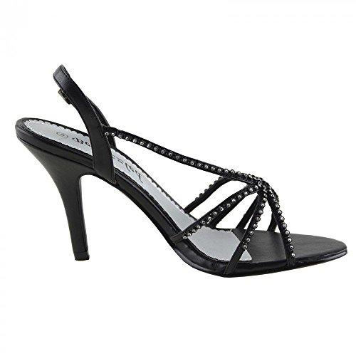 Kick Footwear - Donne delle prom nuziale di diamante sera tacchi alti  scarpe sandali taglia: Amazon.it: Scarpe e borse