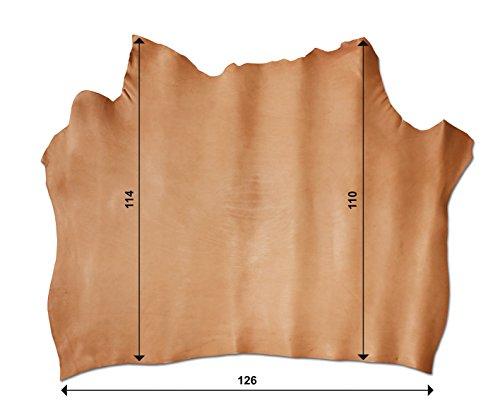 Schulter pflanzlich Natur oder INGRASSATA Leder für Taschen, Ordner, Rucksäcke (Kalbsleder-schlüsselanhänger)