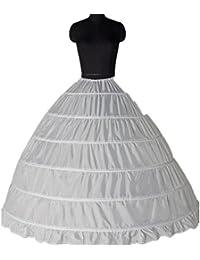 Clocolor A-Line Mujer Enagua Miriñaque Blanca de la boda accesorios de la boda Enagua