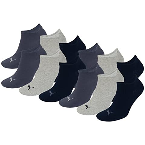 PUMA Unisex Sneakers Socken Sportsocken 12er Pack navy / grey / nightshadow blue 532 - 35/38