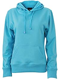 JAMES & NICHOLSON Classic ladies' hoodie (XXL, pacific)