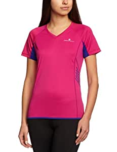 Ronhill Women's Aspiration Short Sleeve Tee - Fushia/Midnight, Size 8