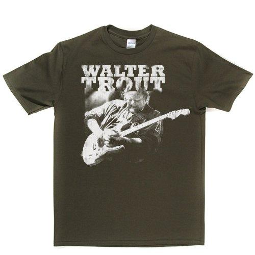 Walter Trout American Blues Guitarist Canned Heat T-shirt Militärgrün