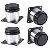 Total: 500-520mm, Dia 60mm Altura ajustable Metal cromado 4 unidades Patas de Metal muebles regulables armario de cocina pies redondo