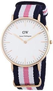 Reloj Daniel Wellington 0506DW de cuarzo para mujer con correa de nylon, color multicolor de Daniel Wellington