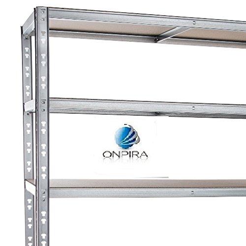 Preisvergleich Produktbild Verzinktes Steckregal 200x120x60 cm mit 5 Böden 175 kg Traglast / Boden