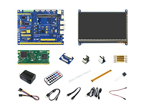 Waveshare-Raspberry pi Compute Module 3 Development Kit Type B with Compute Module 3 IO Board, HDMI LCD, DS18B20 and IR Remote Controller