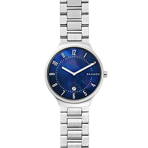 Skagen Herren Analog Quarz Uhr mit Edelstahl Armband SKW6519