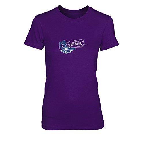 Muto Yugi Kostüm (Card Game Challenge - Damen T-Shirt, Größe: XL, Farbe:)