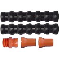 Tubo Flexible Modular articulado líquido refrigerante máquinas Herramientas Kit estándar 3/4 ID 20 mm Tuboflex 304.C34BO Negro/Naranja