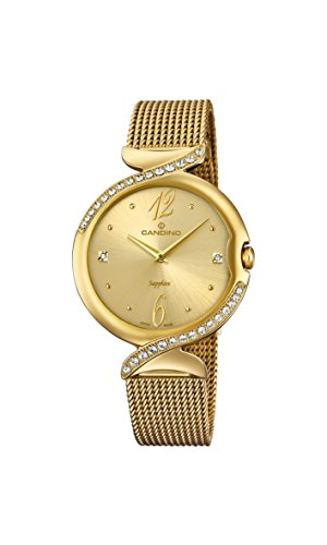 Candino Womens Analogue Classic Quartz Watch with Stainless Steel Strap C4612/2
