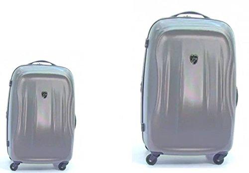 PREMIUM DESIGNER Hardside Luggage set 2 pcs. - Heys Crown SuperLite Grey Hand Luggage+ Trolley with 4 Wheels Large 470575031&Crown&228+230 (Hardside Gepäck Samsonite)
