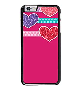 Fuson Pink Hearts Love Designer Back Case Cover for Apple iPhone 6s Plus :: Apple iPhone 6s+ (Ethnic Pattern Patterns Floral Decorative Abstact Love Lovely Beauty)