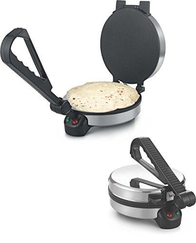 Brightflame Eva 900-Watt Roti Maker (Silver)