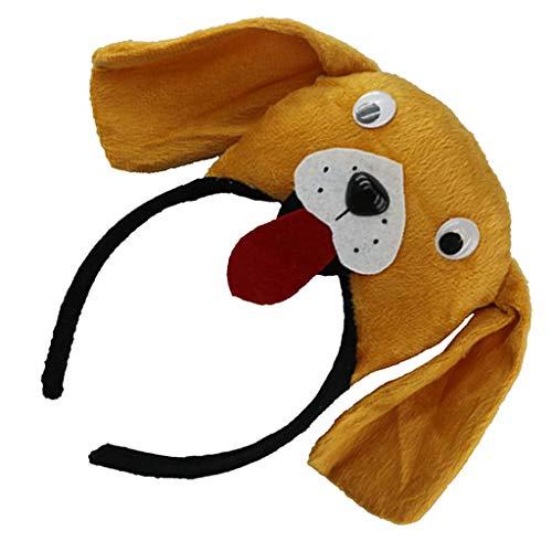 Fenteer Stoff Haarreif Stirnband Kopfband Haarschmuck Kostüm Zubehör mit Tierkopf Design für Alle Menschen - ()