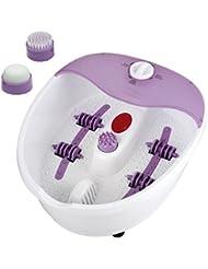 Fußmassage Fußsprudelbad inklusiv 4 Rollen für Fuß-Reflexzonen-Massage mit INFRAROT Wärme Massage für Füße Fußmassagegerät