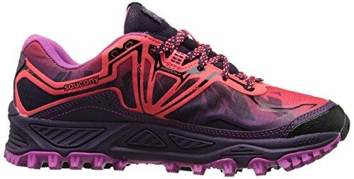 Saucony XODUS 6.0 GTX, Scarpe trail-running donna, Coral/Purple/Violet Multicolor