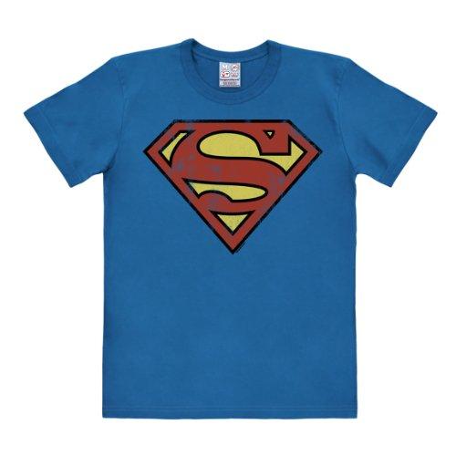 511fb198c8 Logoshirt Camiseta Superman Logotipo - Camiseta DC Comics - Superman Logo -  Camiseta con Cuello Redondo