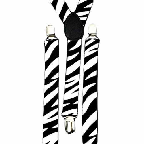 Luxury Divas Men's Wild zèbre Bretelles élastiques Multicolore - Multi-Colored