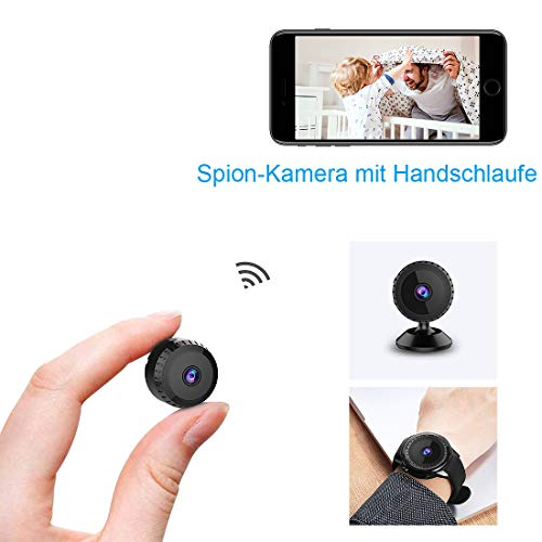 Mini Kamera,TODAYI Full HD 1080P Tragbare Kleine Überwachungskamera, Mikro Nanny Cam mit Bewegungserkennung und Infrarot Nachtsicht für iPhone/Android Phone/iPad - überwachungskamera Infrarot