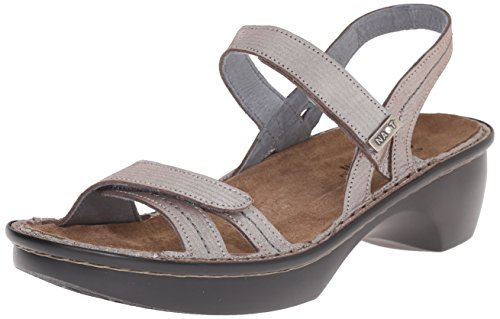 06ed99fa242f Naot Womens Brussels Silver Threads Leather Sandals 37 EU