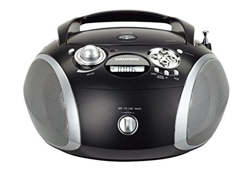 Grundig GRB 2000 Tragbare Radio Boombox schwarz/silber