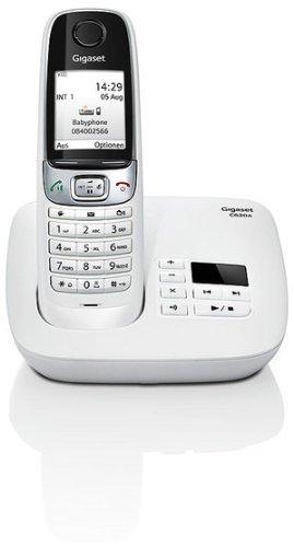 Gigaset C620A Telefon - Schnurlostelefon / Mobilteil - Farbdisplay / Dect-Telefon - Anrufbeantworter / Freisprechen - Analog Telefon weiß