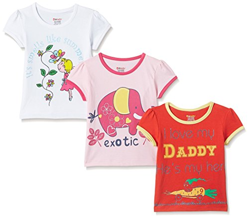 Donuts Baby Girls' T-Shirt (Pack of 3) (272518292_Assorted_12M)