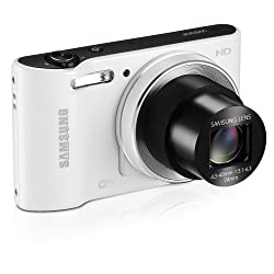 Samsung WB30F 16.2MP Smart Wi-Fi Digital Camera with 10x Optical Zoom and 3.0-inch LCD (White), 4GB Card, Camera Case