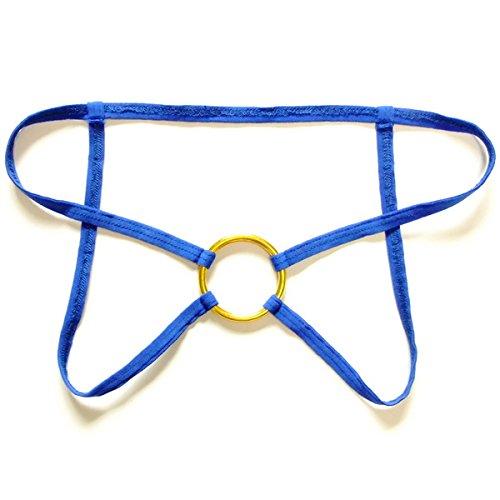 RRRRZ*Sexy Männer string Dual ding Hosenbügler T Hose mit low-rise-transparent Gravur Versuchung Terrasse JJ Temperament und Unterwäsche T-270, Code , Blau