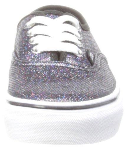 Vans T Authentic, Baskets mode mixte bébé Noir (Iridescent Glitter Black)