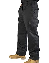Mens Combat Cargo Work Trousers Size 30 To 52 With Knee Pad Pockets - by BKS