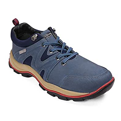 Red Chief Men's Casual All Season Blue Leather Shoes 6