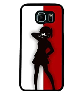 Printvisa 2D Printed Girly Designer back case cover for Samsung Galaxy S6 edge- D4306