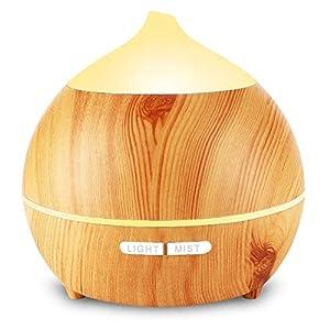 Aroma Diffuser Leise, OKELAY 250ml Luftbefeuchter Oil Düfte Humidifier Holz Ultraschall LED mit 7 Farben fürBüro/Schlafzimmer/Wohnzimmer/Arbeitszimmer/Yoga/Spa/Geschenke für Frauen