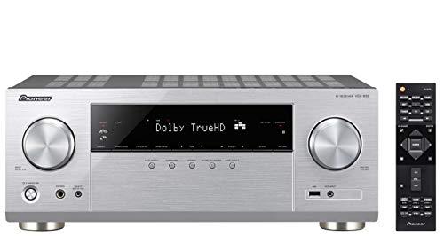 Pioneer 5.1 Kanal AV Receiver, VSX-832-S, Hifi Verstärker 130 Watt/Kanal, Multiroom, WLAN, Bluetooth, Hi-Res Audio, Dolby TrueHD-DTS:X, Musik Apps (Spotify, Deezer u.a.), Internetradio, Silber