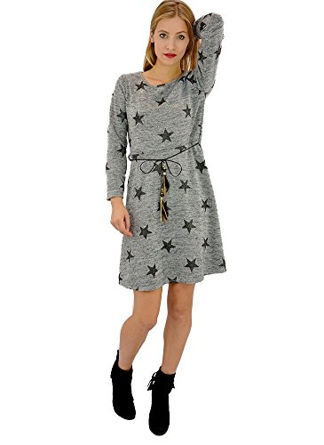 Robe Pull Etoile Grise Gris