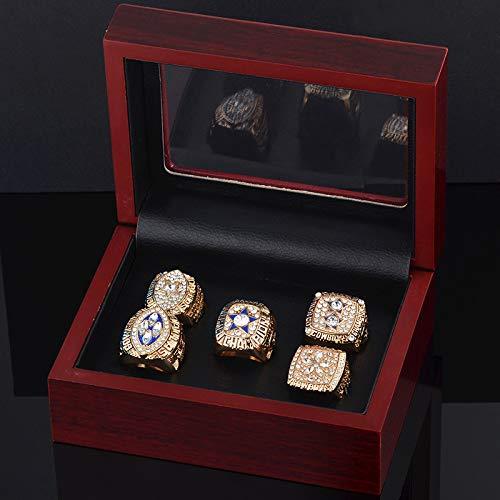 WEII Mode Kreative Ring Dallas Cowboys Super Bowl Meisterschaft Ring Set Fans Souvenir Ring,Gold,Nummer 10