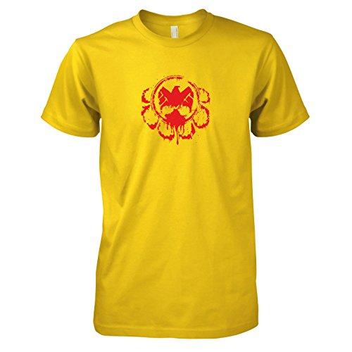 TEXLAB - Hail the Division - Herren T-Shirt, Größe XL, gelb