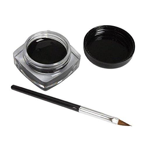 Internet Crème Mini Eyeliner Gel avec la brosse de maquillage cosmétique noir Waterproof Eye Liner