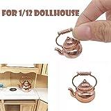Miniatur Wasserkocher 1/12 Maßstab Puppenhaus Miniatur Küche Kochgeschirr Möbel so tun, als Retro...