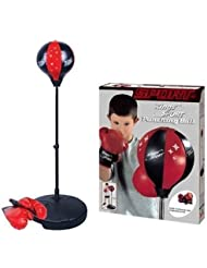 Punch Bag Speed Ball Boxing Sport Set Mitts Gloves Kids Boys Childrens Toy by King Sport