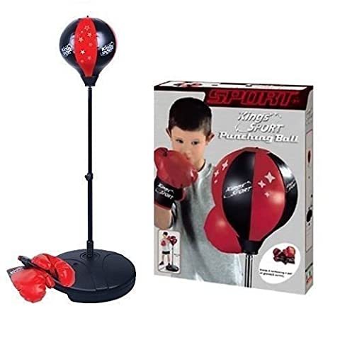 Kings Sport Junior Boxing Set Kids Punch Bag Ball & Mitts Gloves Childern Free Standing Portable Boxing Set 80cm - 110cm