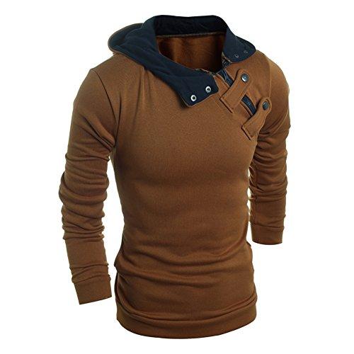 West See Herren beiläufige Langarm Kapuzenmantel Jacke Outwear Hoodies Sweatjacke