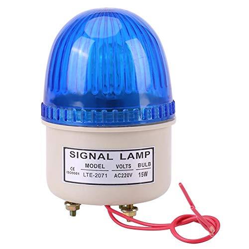 Warnleuchte, Kunststoff AC 220V 15W LED Notblitzleuchte Rot Grün Blau Gelb, langlebig Umweltfreundlich für Werkzeugmaschinen, Ausrüstungen(Blau)