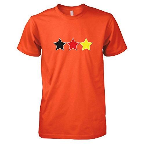 TEXLAB - Deutschland Sterne - Herren T-Shirt Orange