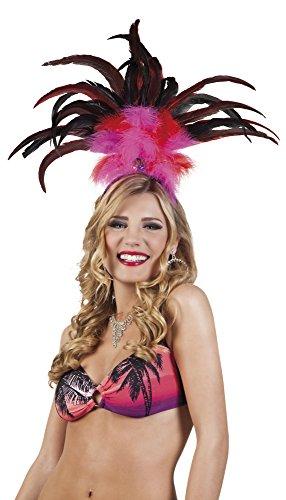 Luxuspiraten - Brasilien Federn Kopfbedeckung Kostüm Tanz, Pink