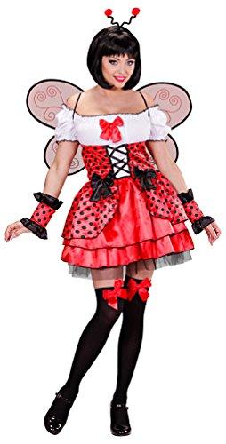 Karneval-Klamotten Marienkäfer Kostüm Damen sexy Käfer Damen-Kostüm Marienkäfer-Kleid mit Haarreif Fühler Karneval Glückskäfer Größe - Damen Sexy Marienkäfer Kostüm