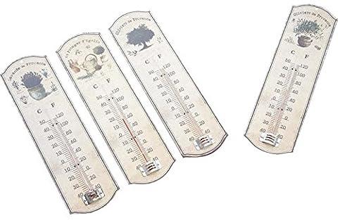 Thermomètre mural en métal Provence - Thermomètre extérieur